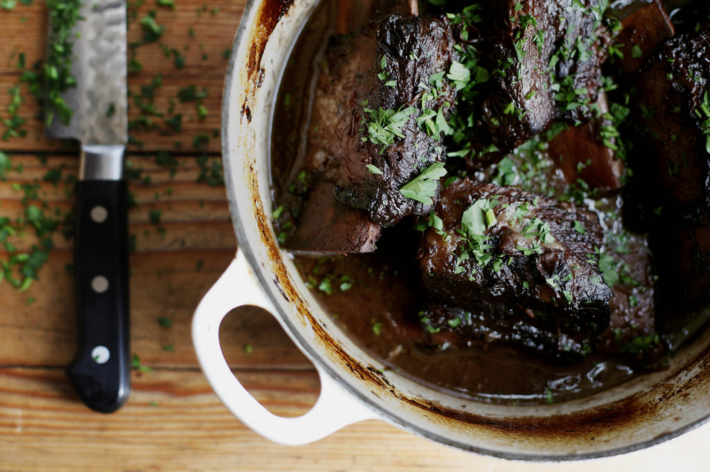 One braised short rib at a time.