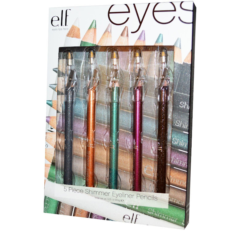 E.L.F. Cosmetics, Elf Shimmer Eyeliner Pencils, 5 Piece Set, 0.25 oz (6.9 g)