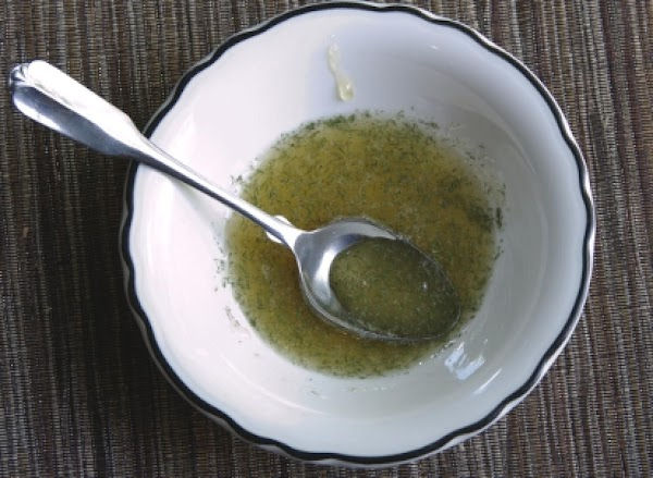 A mix of honey and dried dill