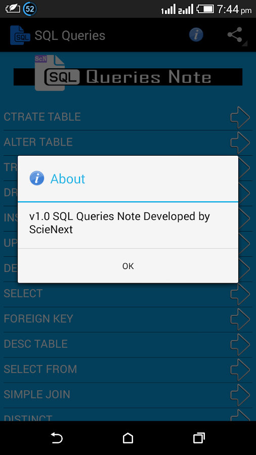 SQL Queries Note- screenshot
