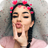 Heart Crown Face Camera
