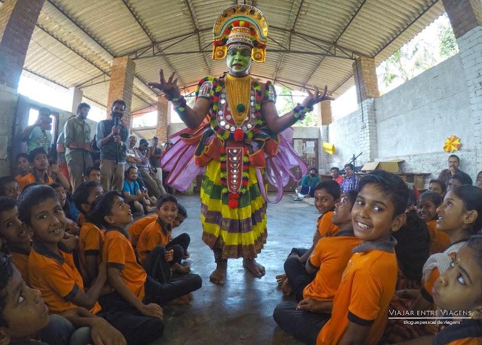 Visitar uma escola na Índia