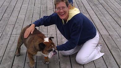 Photo: Bentley, everybody's favorite Bulldog at Gore Bay.