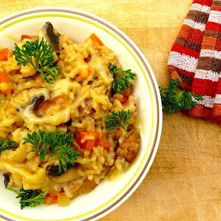Mushroom And Black Forest Ham Risotto