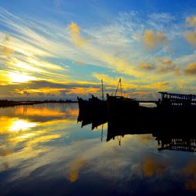 PRING SUNRISE by Pras Manan - Landscapes Sunsets & Sunrises