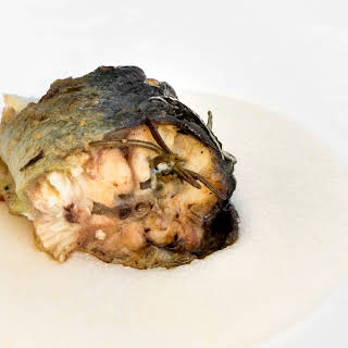 Roasted Eel With Garlic, Rosemary And Buttered Polenta.