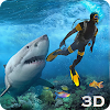 Requin Attaque chasse sous 3D