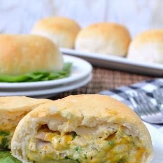 Spinach Artichoke Chicken Biscuits.