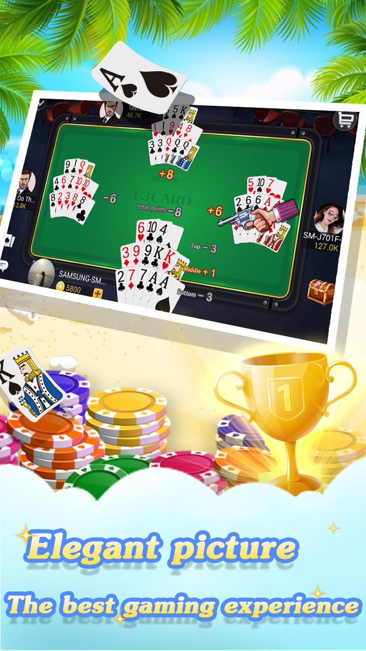 Chinese poker - Pusoy, Capsa susun, Free 13 poker