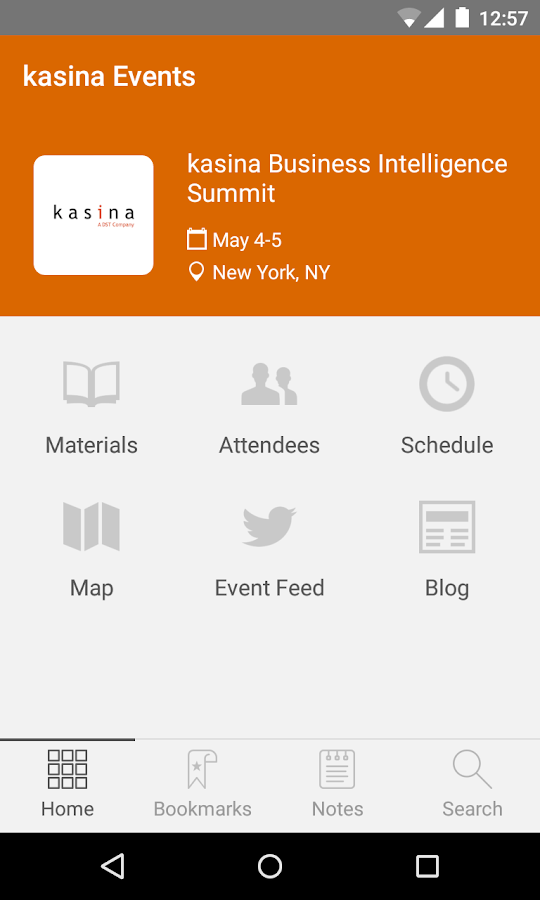 kasina Events- screenshot