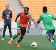 Lebo Mothiba during the South Africa Training on the 02 October 2017 at FNB Stadium.