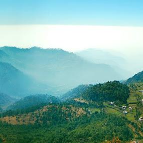 nainital by Usman Irani - Landscapes Mountains & Hills ( panoramic view, mountains, elephant lake, beautiful, lake, breathtaking, nainital,  )