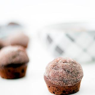 Chocolate Pumpkin Doughnut Muffins