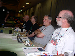 Photo: (From right) Larry Chaban and David Bostwick of the Subterrans (Molemen), Rich Baier and Hank Drapalski of the Cthulians.