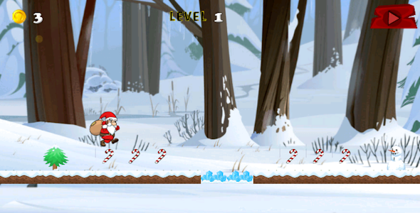 Santa Surfer Xmas Running game screenshot 0