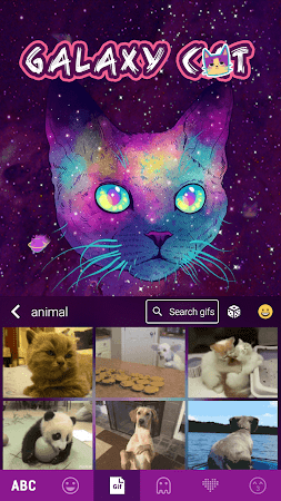 Galaxy Cat Emoji Kika Keyboard 1.0 screenshot 1061190