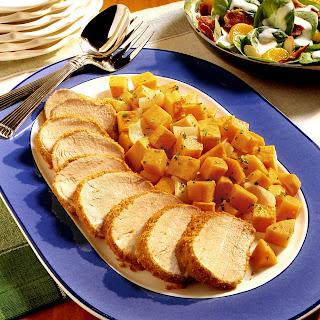 Pork Tenderloin with Roasted Sweet Potatoes.