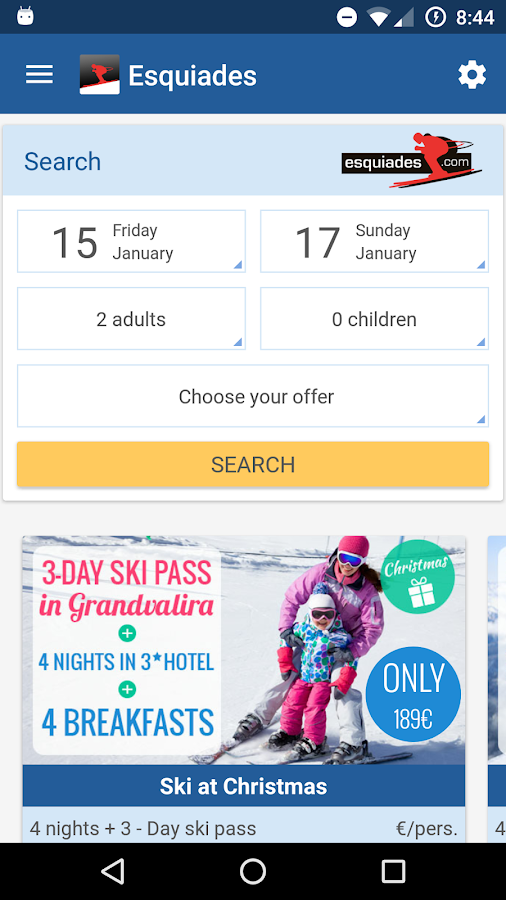 Esquiades.com - Ski Offers- screenshot