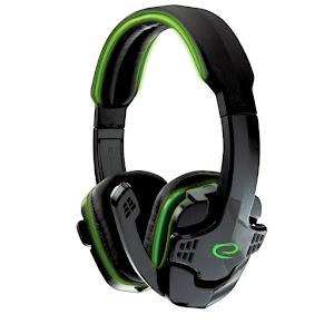 Casti gaming stereo cu microfon si control volum RAVEN Verde