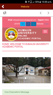 Kumaun University Admissions- screenshot thumbnail