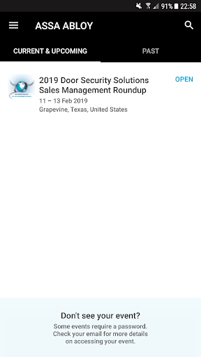 Screenshot for ASSA ABLOY Events in United States Play Store