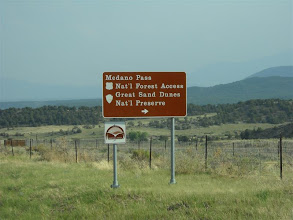 Photo: South of Westcliff, the turnoff to Medano Pass