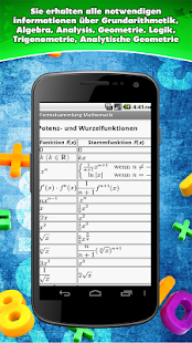 Formelsammlung Mathematik- screenshot thumbnail