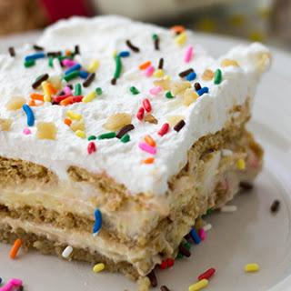 Birthday Cake No-Bake Lasagna