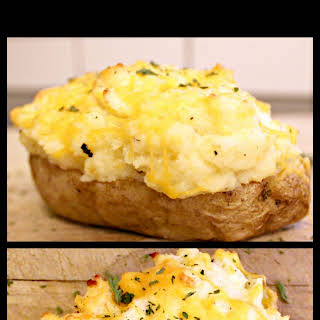 Cheesey Twice Baked Potatoes.
