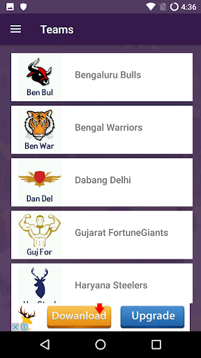 Pro Kabaddi 2017 Live Scores and Schedules App  screenshots 2