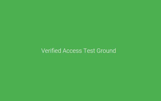 Enterprise Verified Access Test Bed
