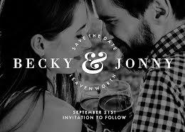 Becky & Jonny's Wedding - Save the Date item
