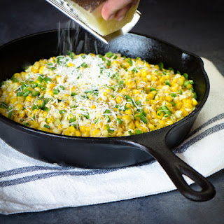 Roasted Corn with Jalapeno and Manchego