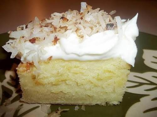 """Click Here for Recipe: Coconut Topped / Cream Cheese Sheet Cake """"This..."""