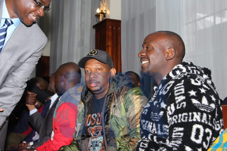 Nairobi Governor Mike Sonko at the Milimani Law Court on Monday, December 9, 2019.