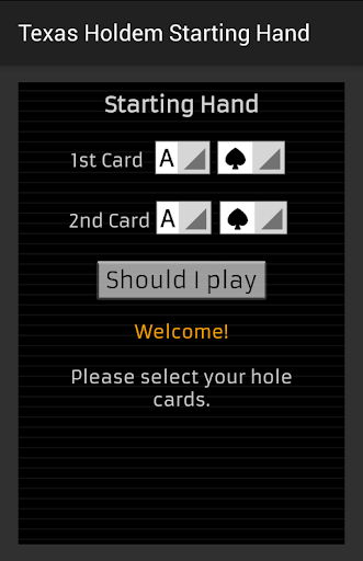 Texas Holdem Starting Hand