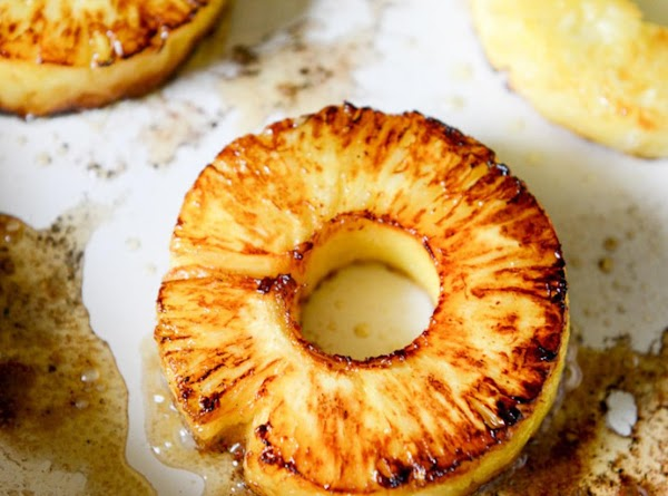 Add the pineapple rings and cook until they are golden and caramelized, about 5...