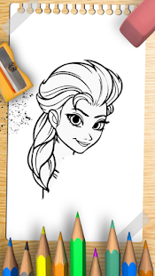 How to draw Queen Elsa - náhled