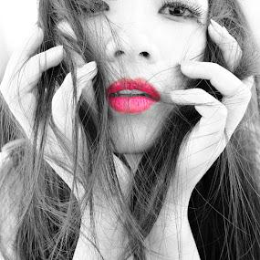 lips by Krishna Murti - People Portraits of Women ( face, people )