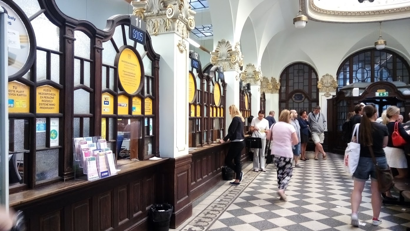 復古的郵局櫃台