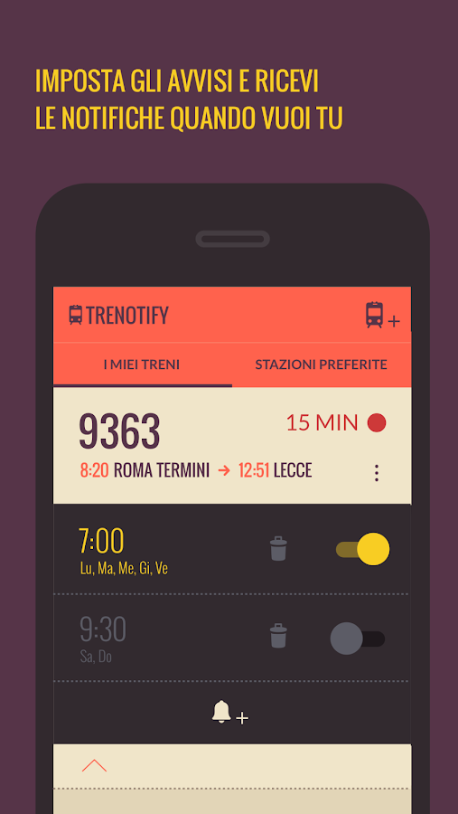 Trenotify- screenshot