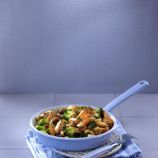 Wholewheat Pasta with Salmon and Broccoli.