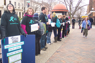 Photo: 4.12.13 Silent Witness to Street Harassment at theUniversity of Iowa