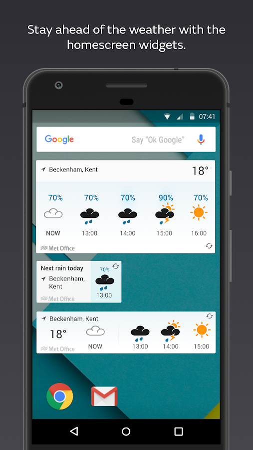 Met Office Weather Forecast - Android Apps on Google Play