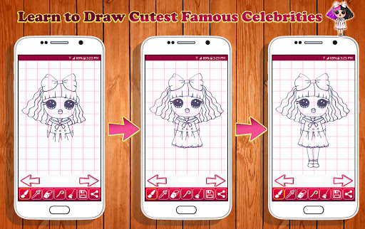 Learn To Draw Cutest Famous Celebrity Characters Apk Download