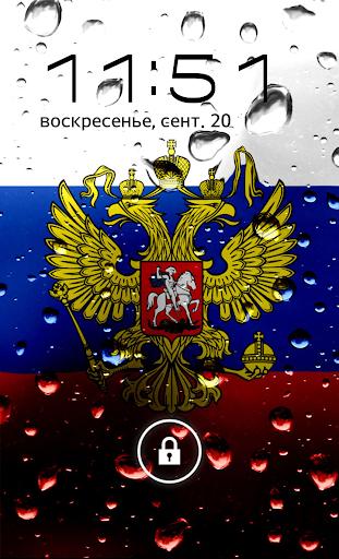 Russia flag lockscreen