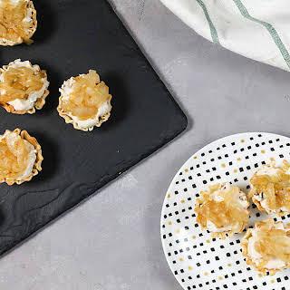 Mini Balsamic Onion Tarts.