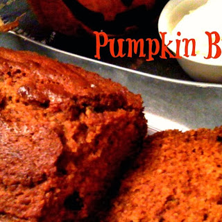 Pumpkin Bread with Cinnamon Honey Cream Cheese Spread!