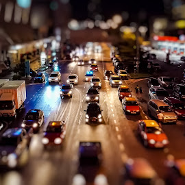 Night lifes by Norhan Sukaatti - City,  Street & Park  Street Scenes ( cars, streets, low light, transportation, night shot, bokeh, tilt shift )