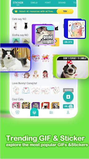 u2764ufe0fEmoji keyboard - Cute Emoticons, GIF, Stickers 3.4.2117 screenshots 4